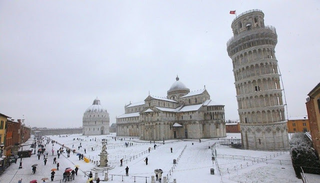 Inverno em Pisa na Itália