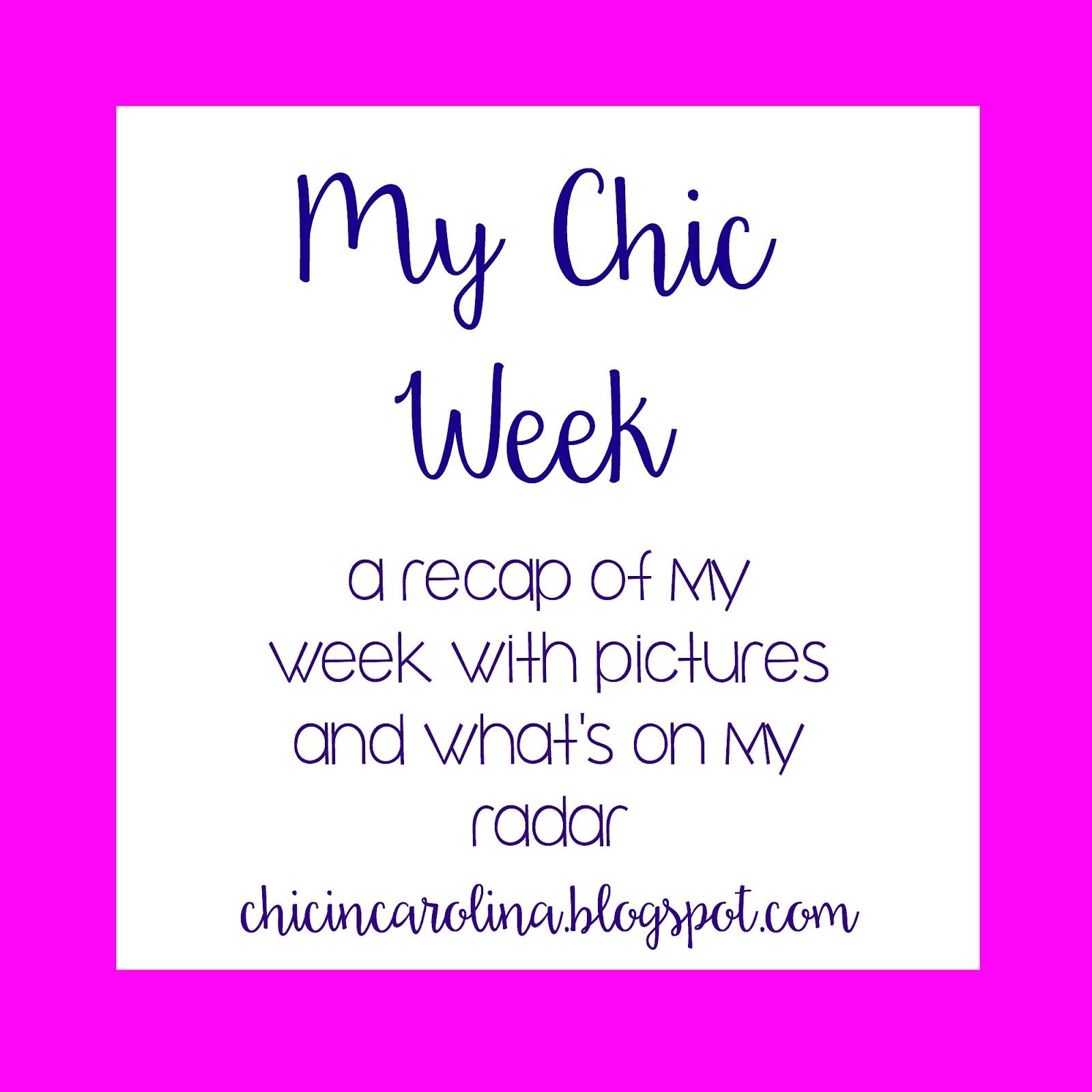 Chic in Carolina: My Chic Week: December 8-14