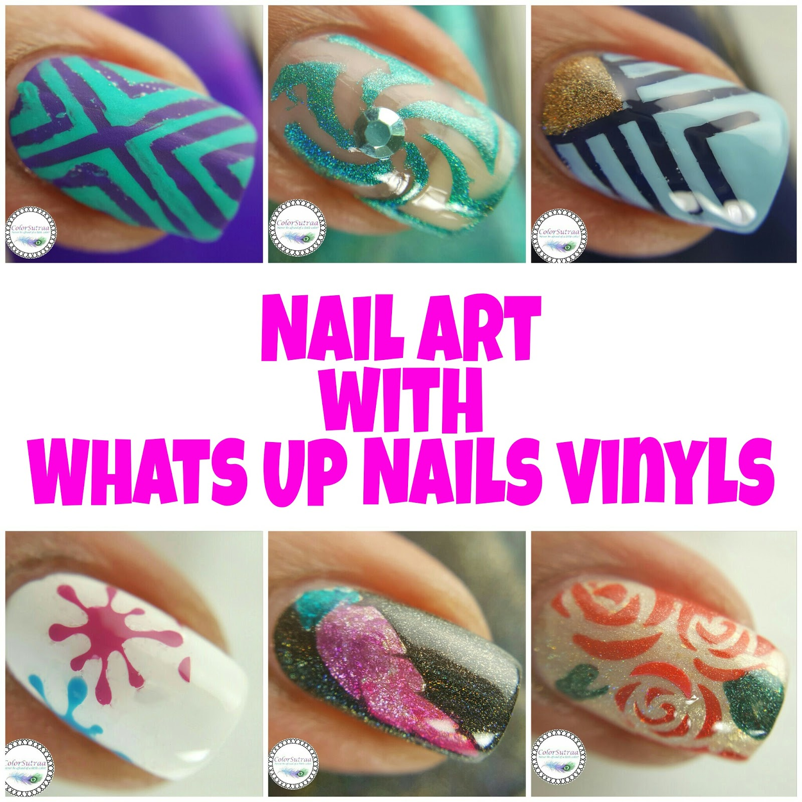OODLES of Nail Art with WHATS UP NAILS Vinyls! - ColorSutraa