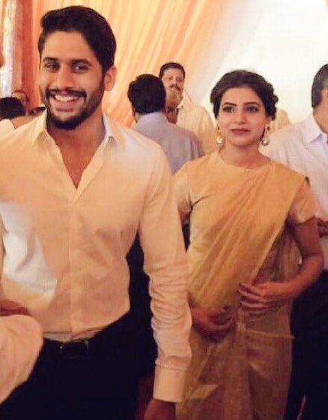 Naga Chaitanya, Samantha spotted at a wedding