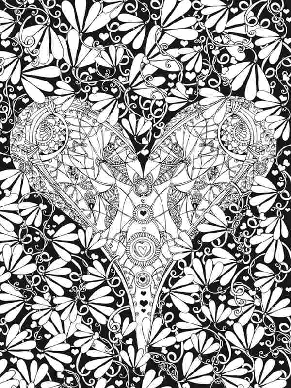 New 6 Free Valentines Heart Coloring