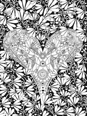 heart of valentines adult coloring pages
