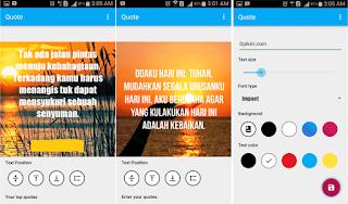 Aplikasi Untuk Membuat Kata-Kata atau Edit Tulisan Foto Keren Di Android