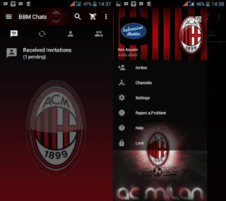BBM MOD AC MILAN for Android Gingerbread, Jellybean, Kitkat, and Up