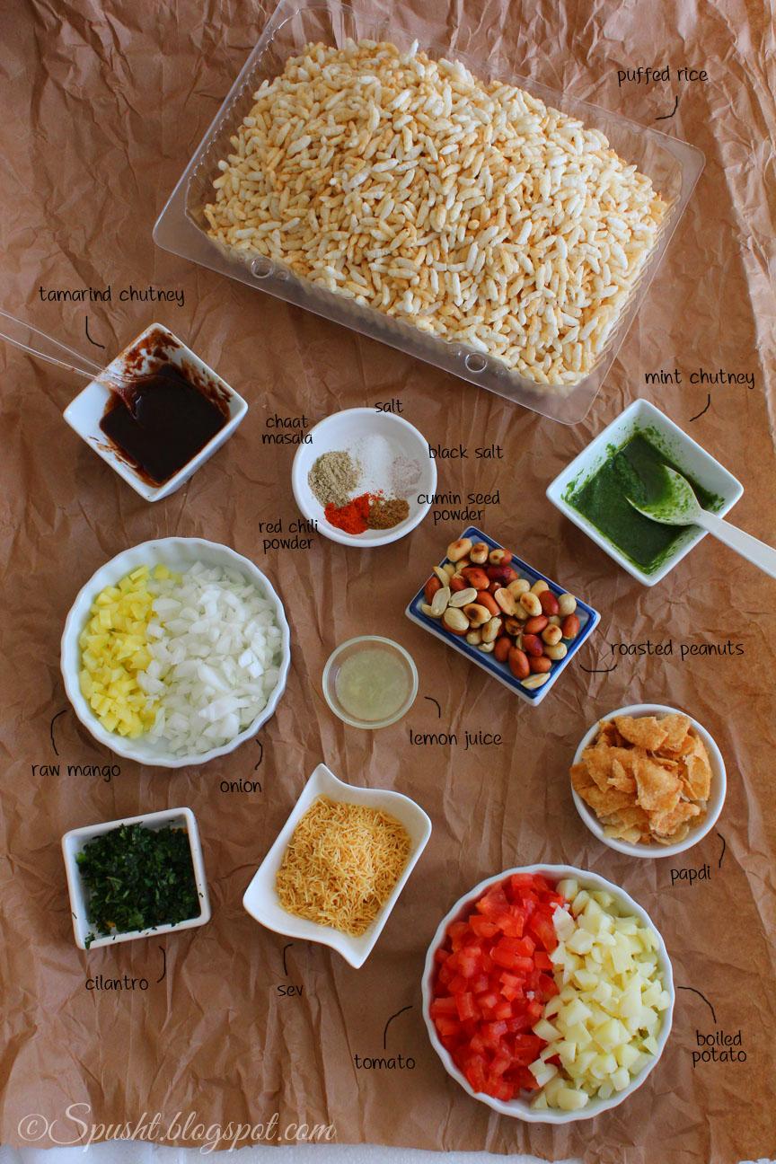 Spusht Bhel Puri Recipe Indian Chaat Recipe