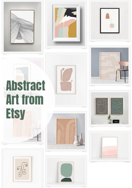 Inexpensive Modern Abstract Art from Etsy
