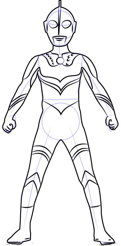 Cara Mudah Sketsa atau Menggambar Ultraman Zoffy