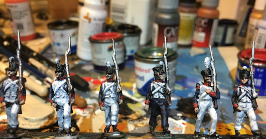 20mm French line infantry and 20mm Bavarian Cheveuxleger