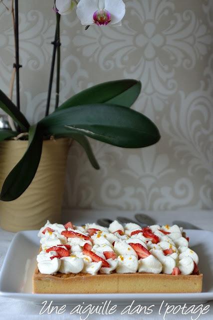 Tarte aux fraises et fleur d'oranger d'Eric Kayzer