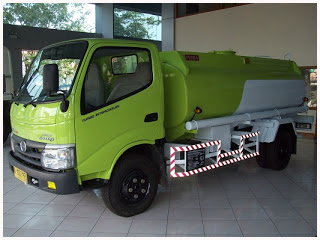 truk tangki air plat besi