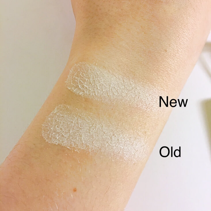 wet n wild coloricon Eyeshadow Single old vs new Sugar swatches