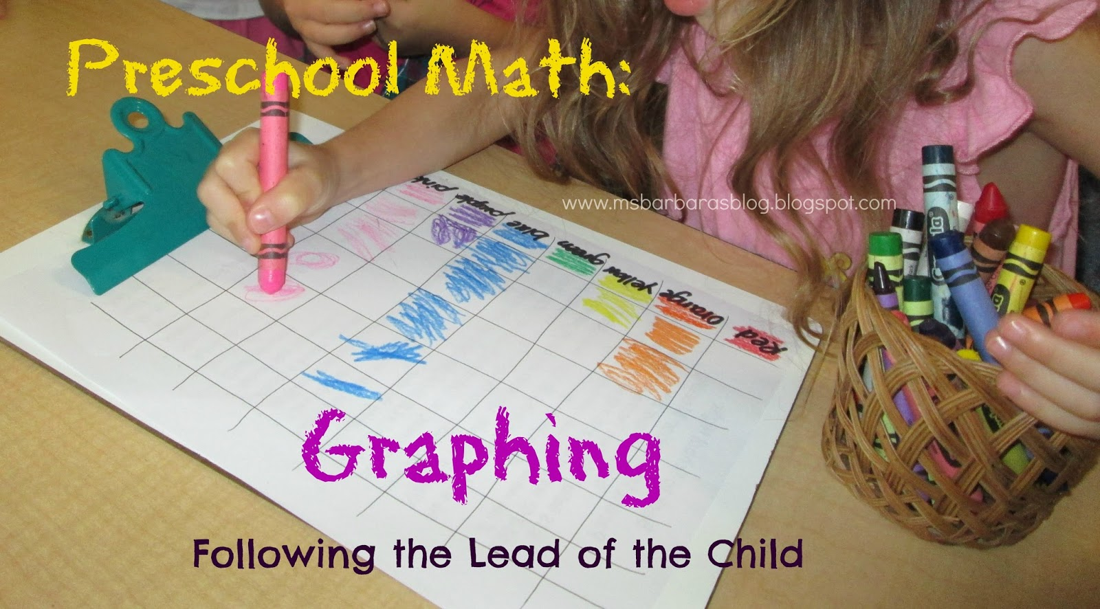 For The Children Preschool Math Graphing And Following The Lead Of The Child
