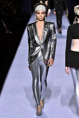 calça metalizada Tom Ford