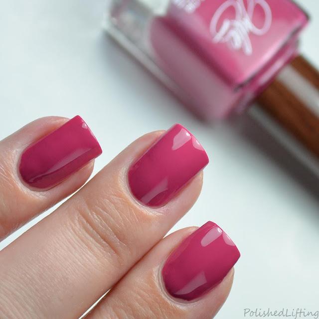 rose pink creme nail polish