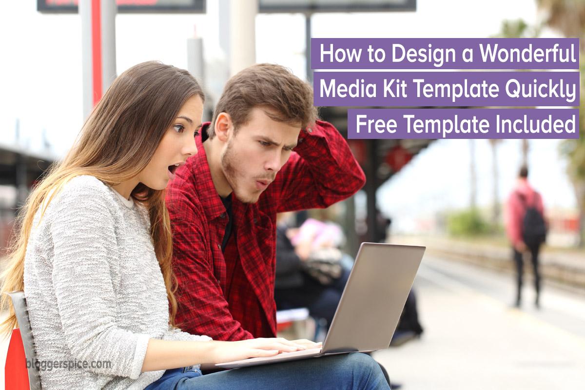 create media kit template easily