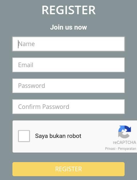 Untuk membuat akun Adsok, silahkan mendaftar/register disini, dan silahkan isi Nama, Alamat E-mail, Password, dan klik Captcha.