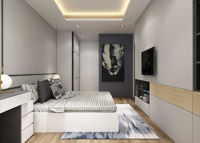 Thiết kế chung căn hộ Sơn Trà Ocean View 2 phòng ngủ - Phòng ngủ phụ
