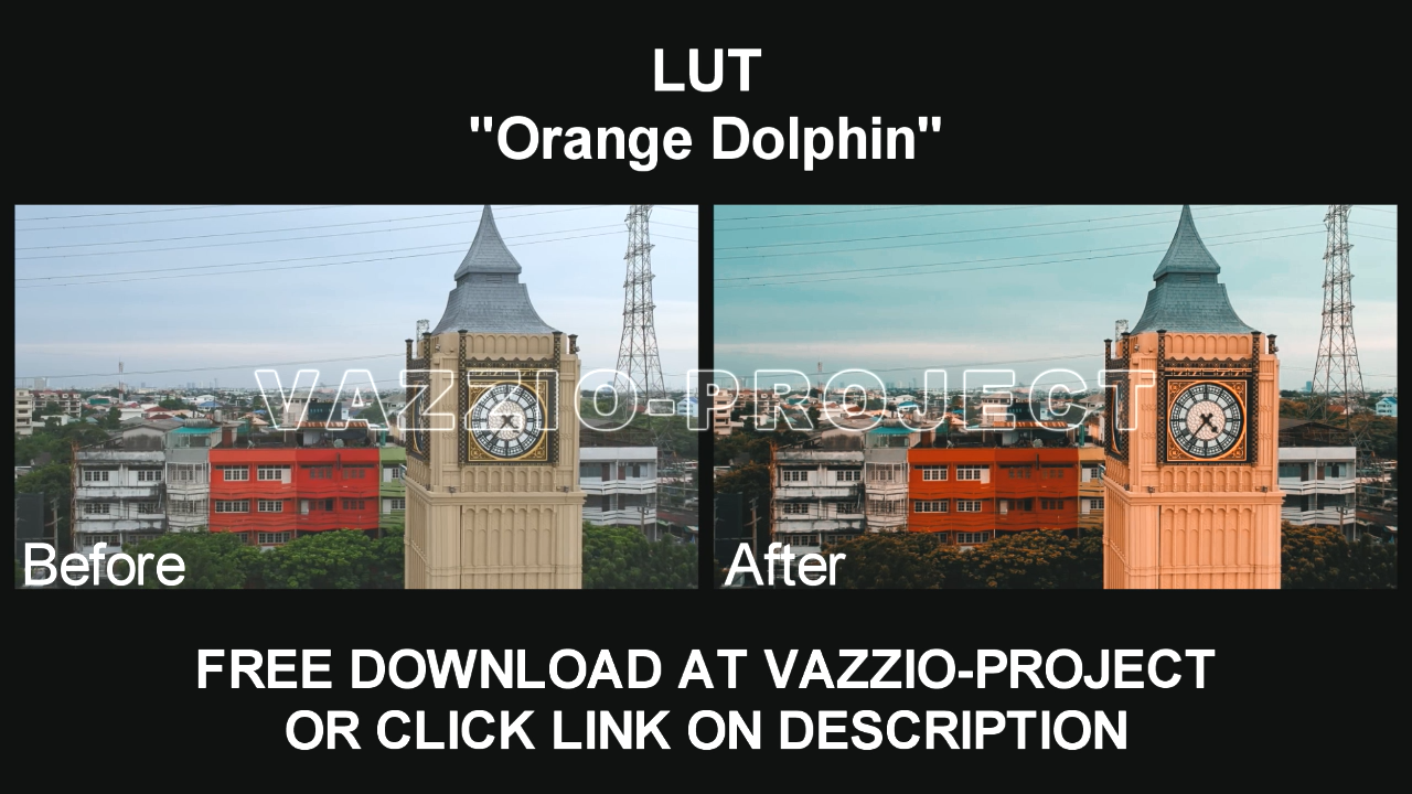 LUT Preset - Orange Dolphin Free Download for Sony Vegas