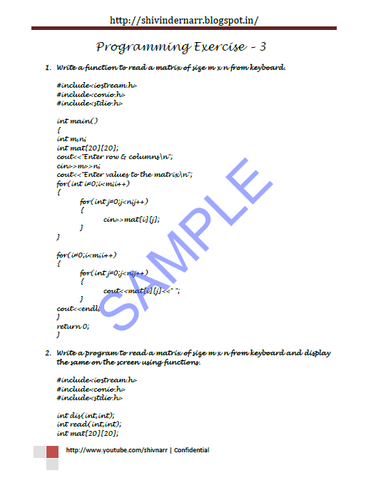 Programming passion: Balaguruswamy C++ Programming Exercises