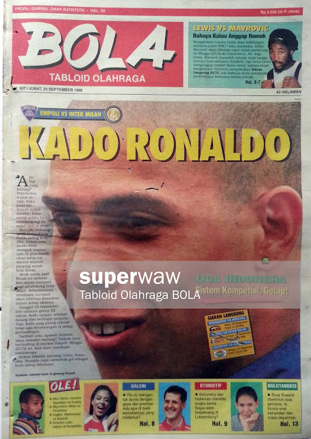 Tabloid BOLA: KADO RONALDO