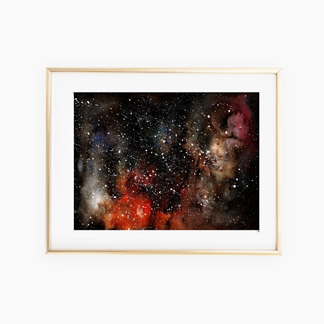 Universe Watercolor Painting