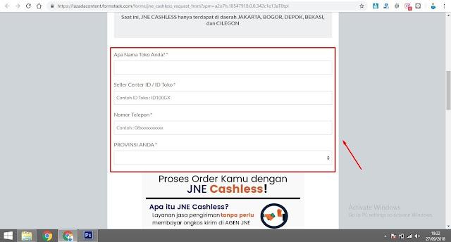 Cara Daftar JNE Cashless Di Lazada Mudah Dan Cepat