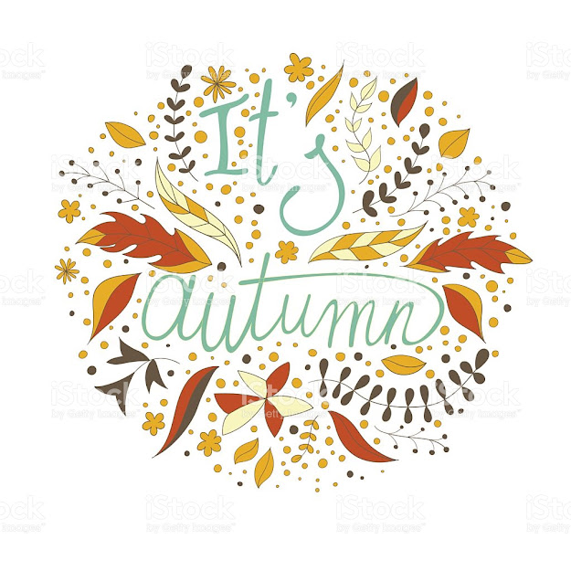 Autumn Vector Retro Poster With Abstract Fall Background Royaltyfree  Stock Vector Art