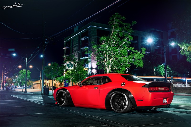 Dodge Challenger on the VR15 wheels 01