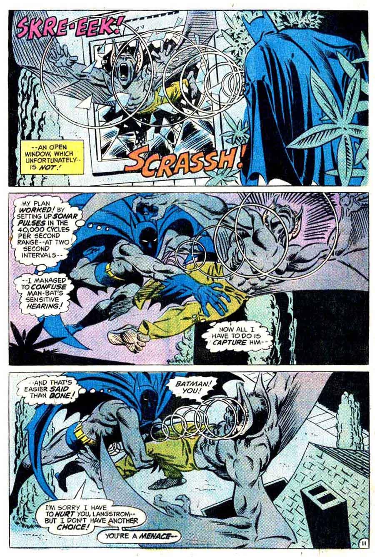 Man-Bat v1 #1 dc 1970s batman comic book page art by Steve Ditko