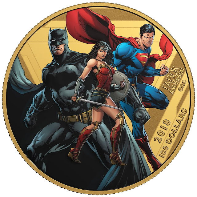2018 $100 14-Karat Gold Coin - The Justice League - United We Stand