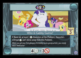 My Little Pony Who is Gabby Gums? Premiere CCG Card