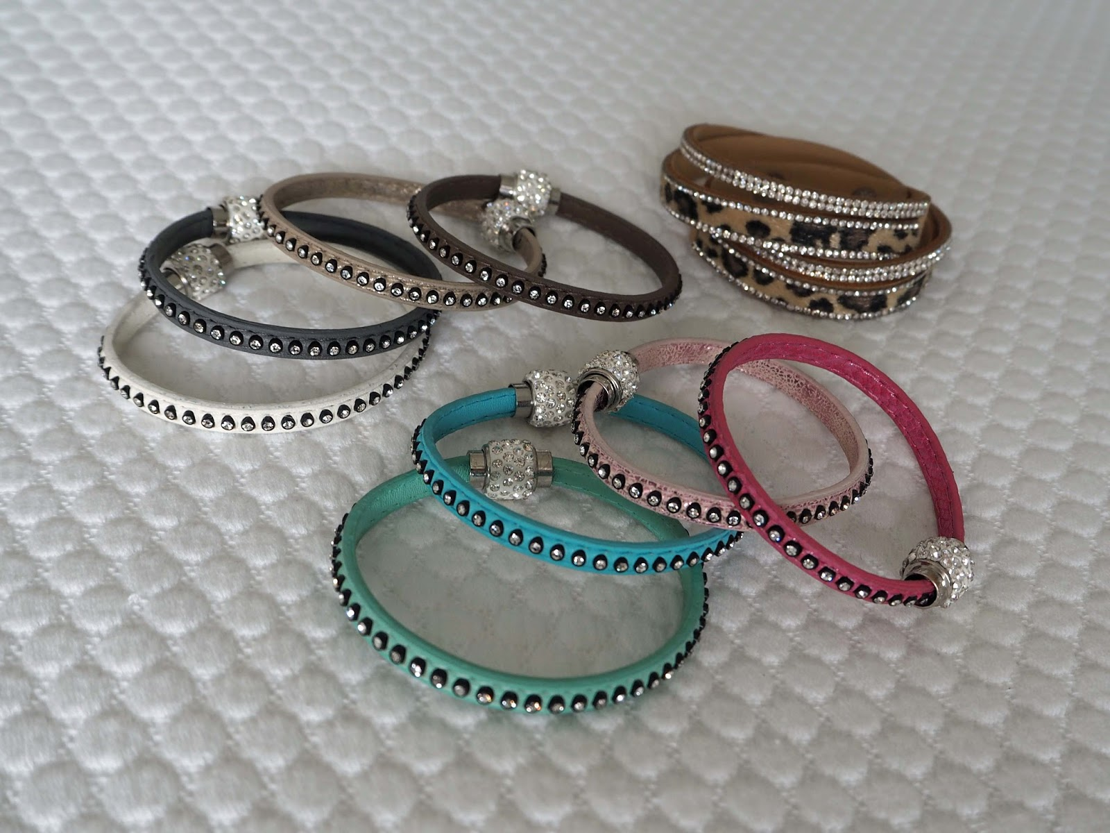 Nerja-holiday-packing-leopared-diamante-clasp-wrap-bracelets