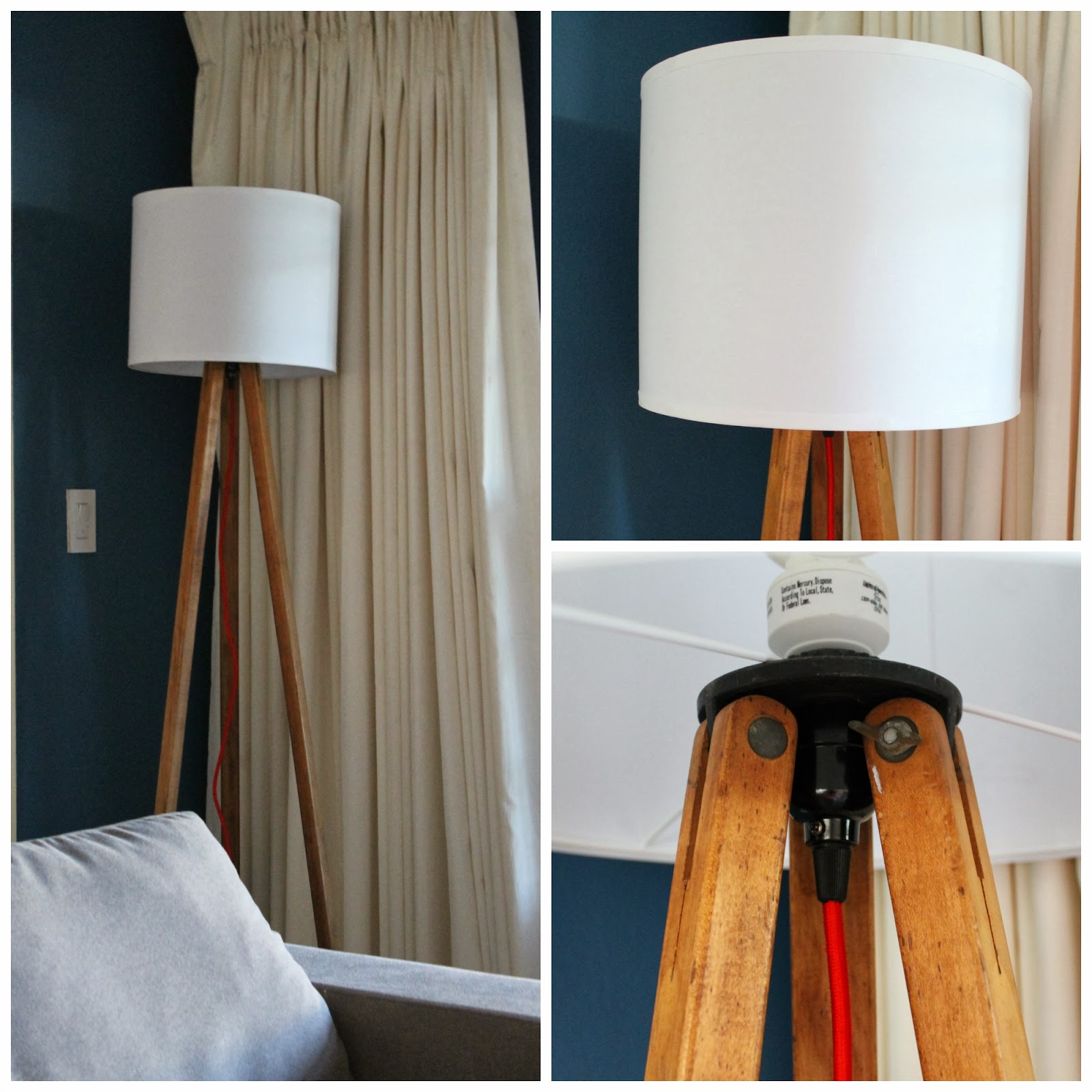 Tripod floor lamp hello beautiful for Make wooden floor lamp