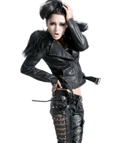DevilInspired Gothic Punk Dresses: Leather Jackets for Women