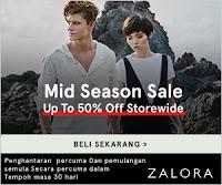 Zalora Malaysia Mid Sales
