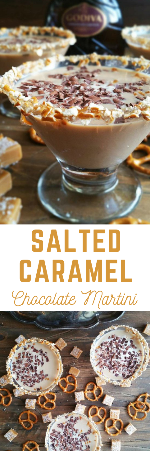 SALTED CARAMEL CHOCOLATE MARTINI #caramel #dessert