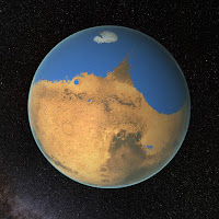 Ocean on Mars, 4 billion years ago