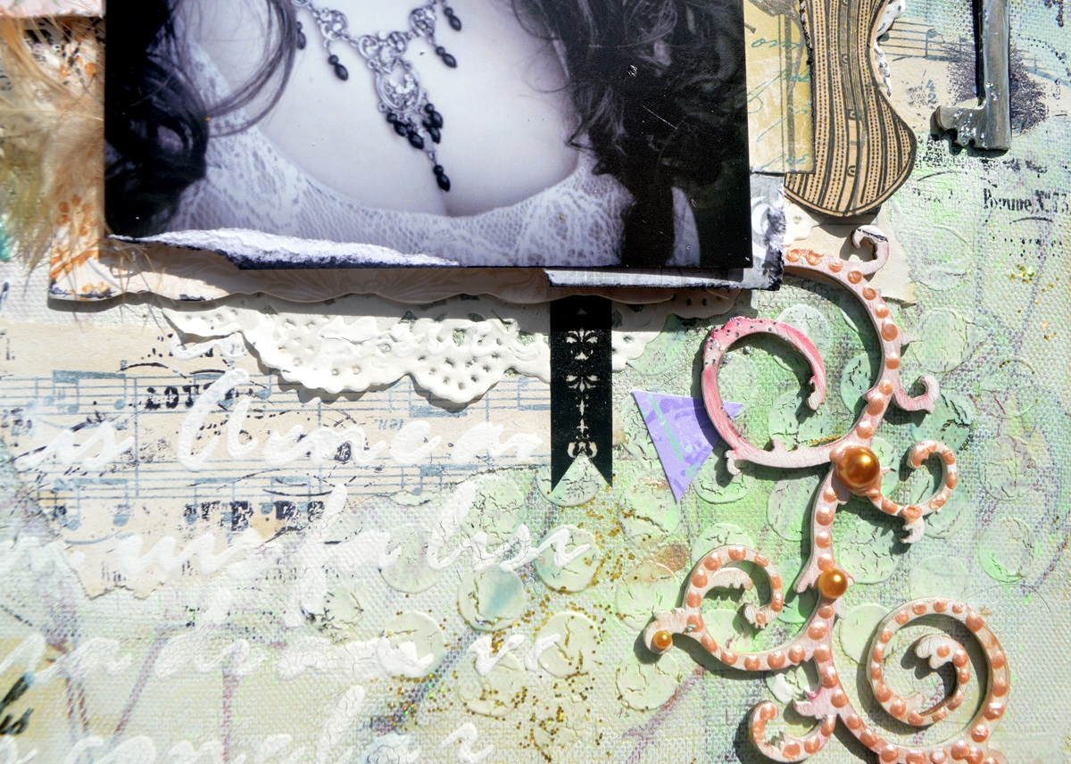 Life Captured Scrapbook Page by Agnieszka Bellaidea using BoBunny Madeleine Collection