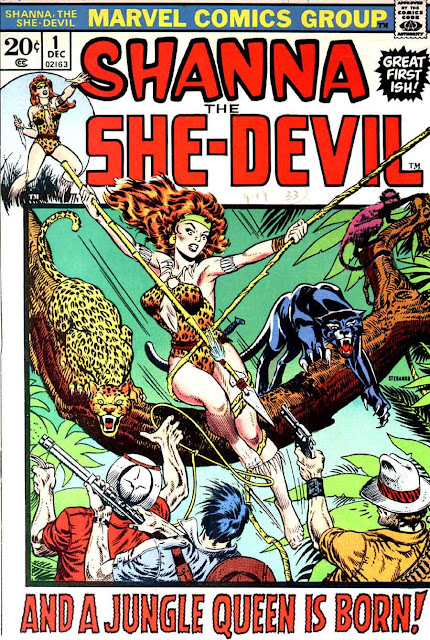 Shanna the She-Devil v1 #1 marvel 1970s bronze age comic book cover art by Jim Steranko