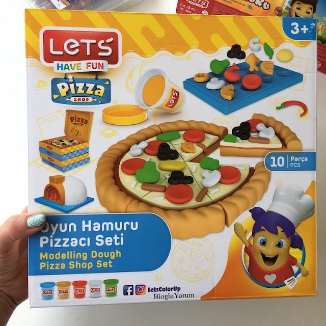 lets oyun hamuru pizzacı seti