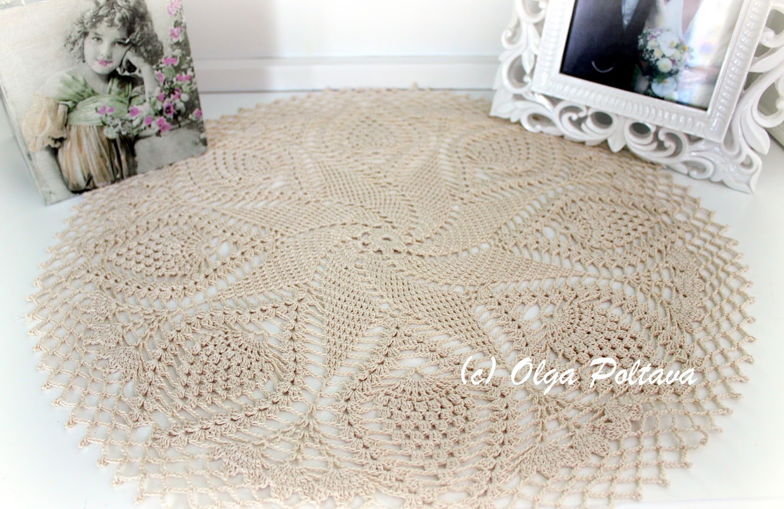 Lacy crochet swirl and pineapples doily free crochet pattern by swirl and pineapples doily free crochet pattern by olga poltava part 2 bankloansurffo Gallery