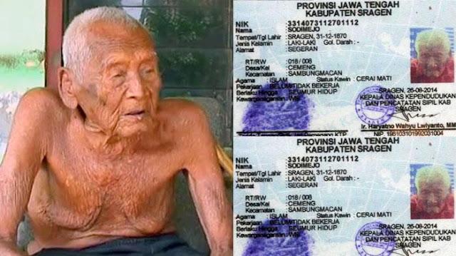 Mengejutkan, Manusia Tertua Di Dunia Ternyata Dari Indonesia, Mbah Gotho Lahir Tahun 1870