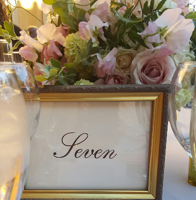 Número de mesa para boda