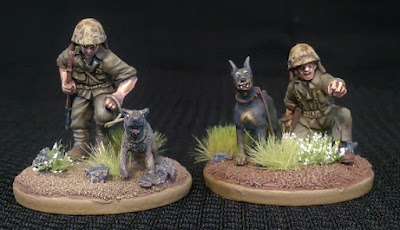 28mm USMC War Dog Team