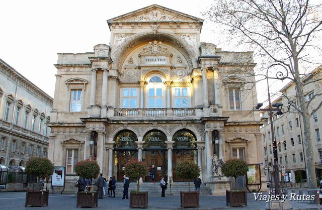 Teatro, plaza del Reloj, Avignon