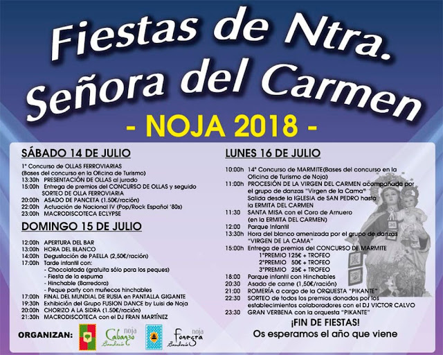 Fiestas de Nuestra Señora del Carmen en Noja 2018