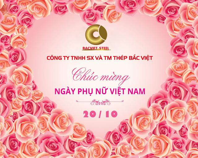 Công ty Thép Bắc Việt chúc mừng ngày phụ nữ Việt Nam 20/10