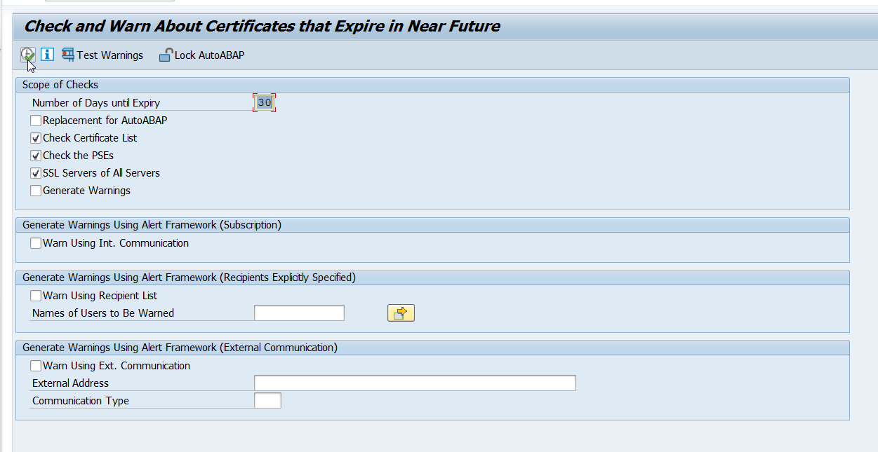 Ssl Certificate Expiration From List With Pse Type Sap Hr Hcm Journey