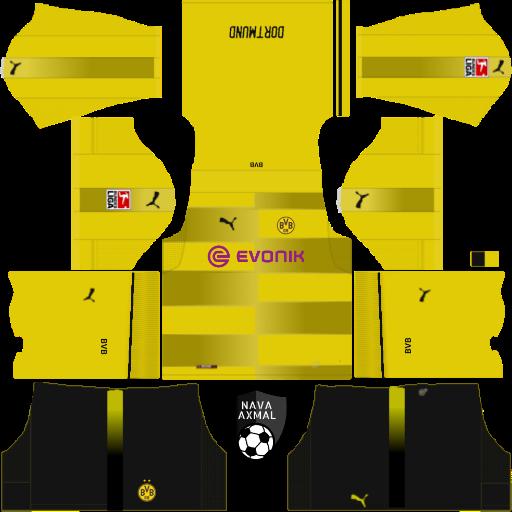 1b3723cc9 borussia dortmund kits dls 5k - Jersey Kit Dls Borussia Dortmund