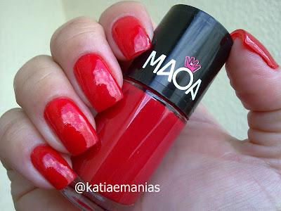 Maoa, La Femme, carimbada, Nail Plus, Konad, vermelho,